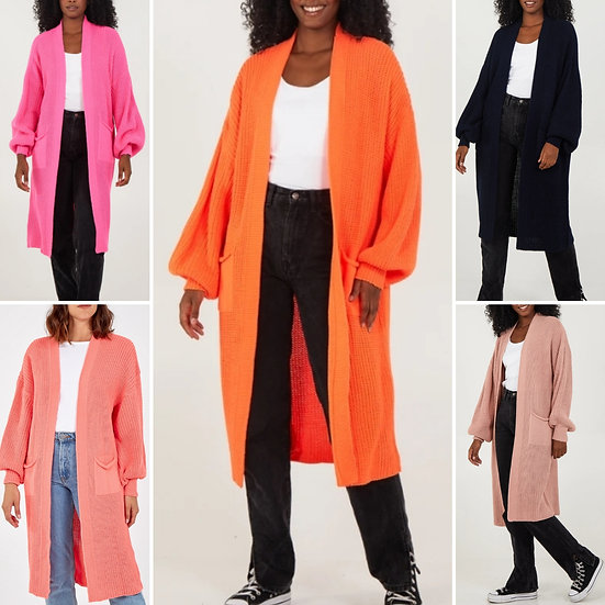 Knitted Long Cardigans - Various