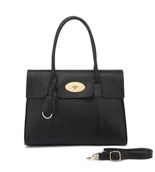 Designer Inspired Tote Bag -Black