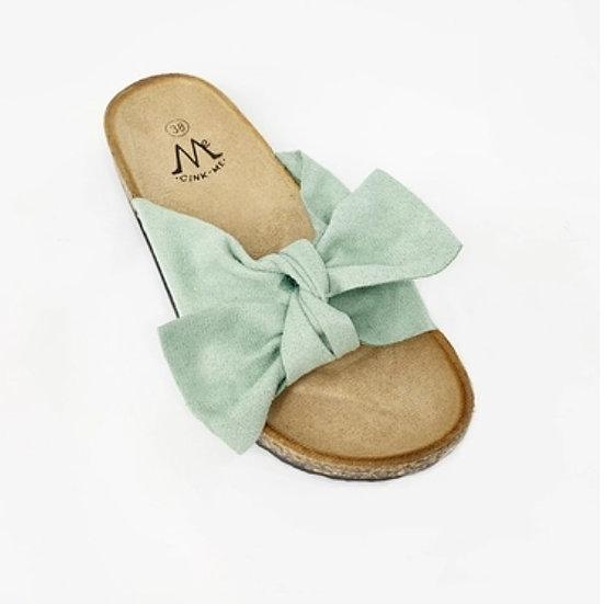 Mint Green Bow Sliders