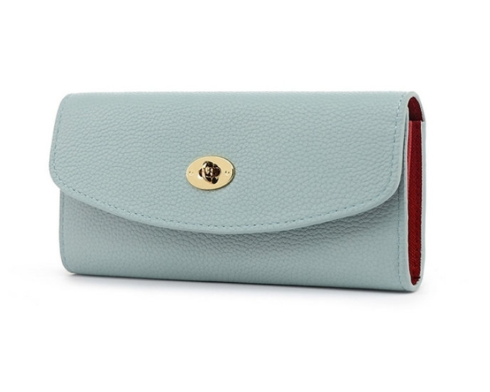 Mulberry Style Mint blue Purse with Red Lining