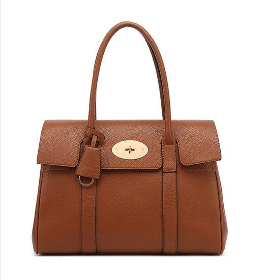 Designer Inspired Tote Bag - Tan
