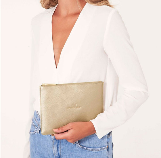 Time To shine Clutch -Rose Gold