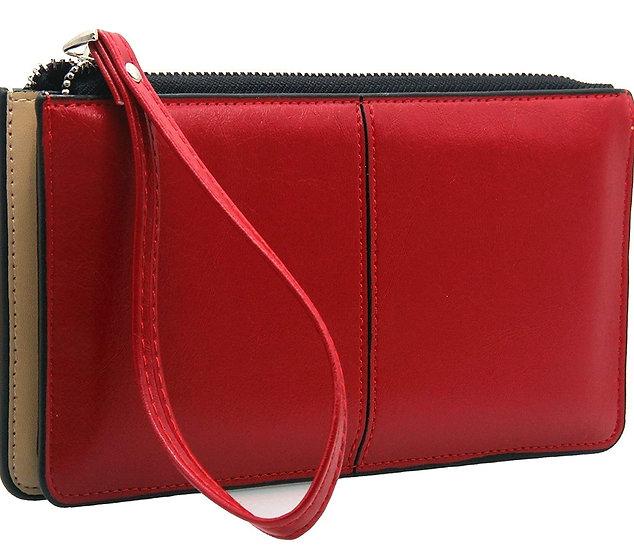 Wristlet Clutch Purse -Red