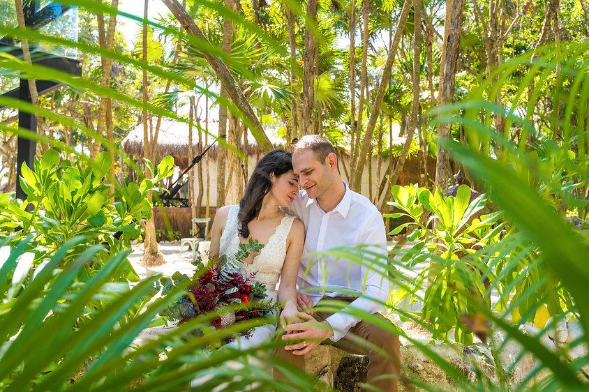 Riviera Maya elopement in jungle