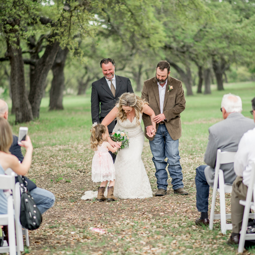 Intimate wedding in Fredericksburg TX