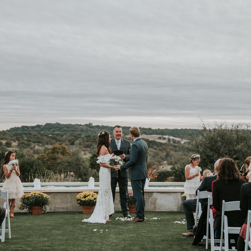 Intimate wedding at Sunset Ranch Event Center