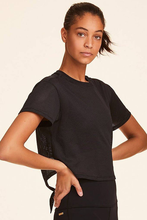 Tie Back Crop Tee - Black