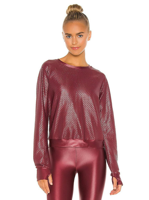 Sofia Shiny Netz Pullover