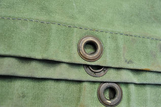 close up green canvas detail .JPG