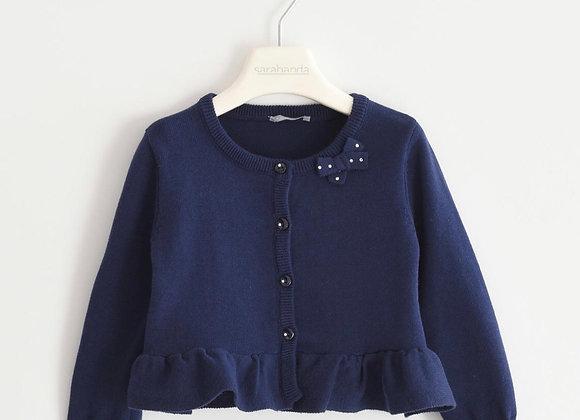 Cardigan in cotone blu SARABANDA