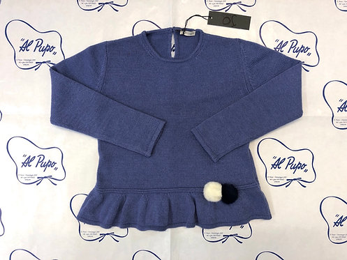 Maglione lana e cachemire JoMilano color prugna chiaro
