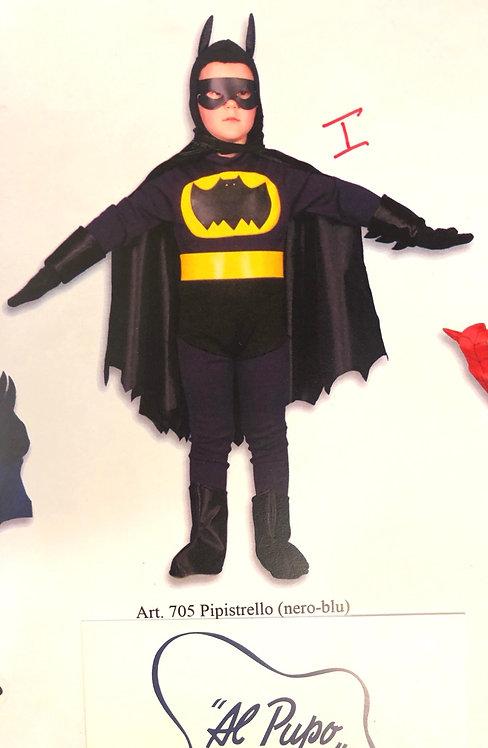 Vestito Carnevale BatMan blu e nero Collezione Esclusiva