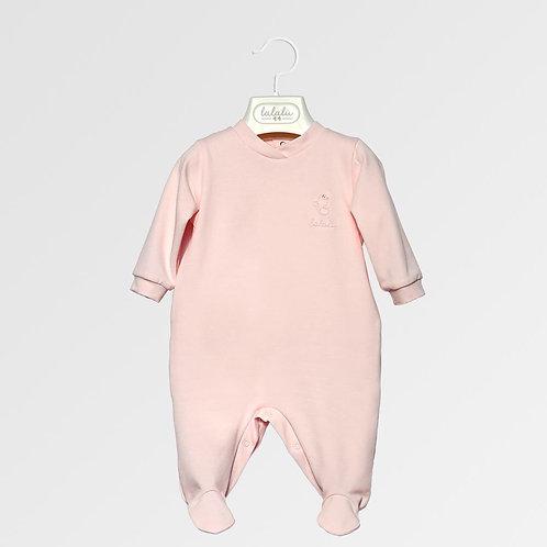 Tutina cotone Basic color rosa LALALÙ