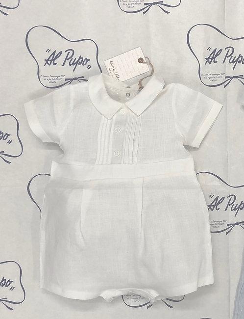 Pagliaccetto LEO&LILLY in lino bianco