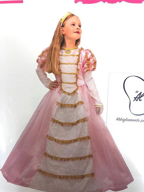 Vestito da Carnevale Principessa Rosa