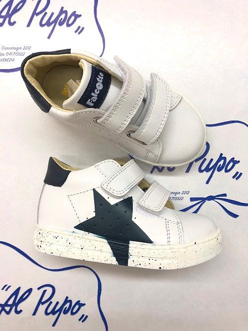 Scarpe FALCOTTO bianche con stella blu