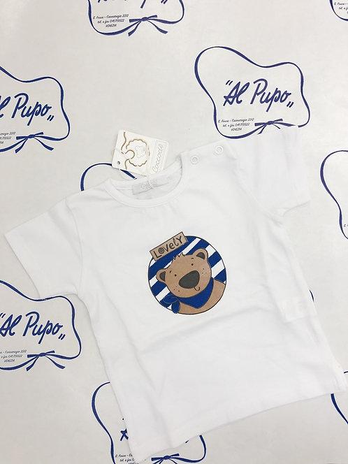 T-shirt Bianca ORSETTO blu