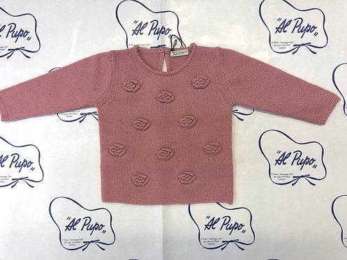 Maglione lana e cachemire JoMilano rosa antico