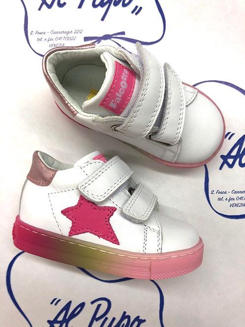 Scarpe FALCOTTO bianche con stella rosa