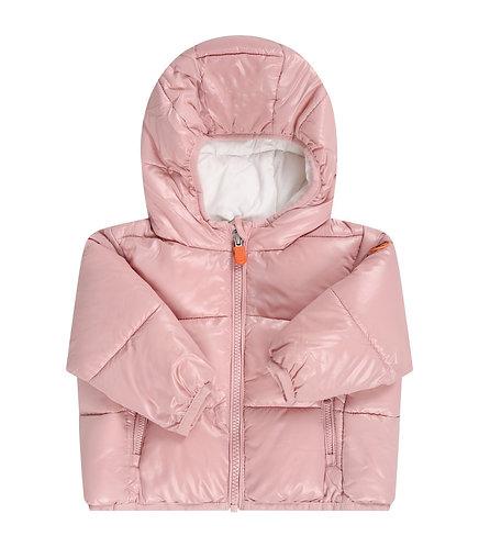 Piumino SAVE THE DUCK modello BABY rosa lucido