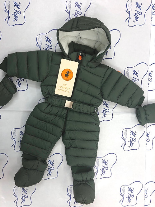 Tuta intera  SAVE THE DUCK invernale verde militare