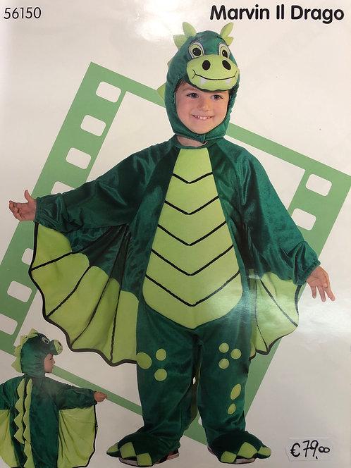 Vestito carnevale Drago verde