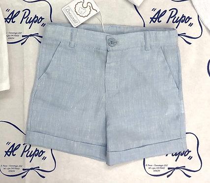 Pantaloncini COCCODÈ in lino azzurro