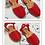 Thumbnail: Sandali RIA MENORCA rossi (da 23 a 33)