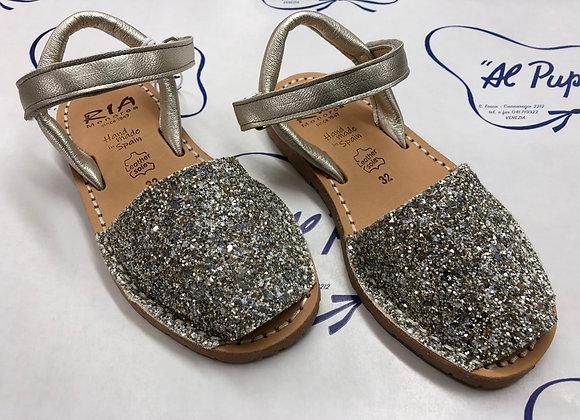 Sandali RIA MENORCA glitter argento (da 23 a 33)