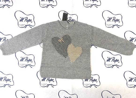 Maglione lana e cachemire JoMilano grigio perla