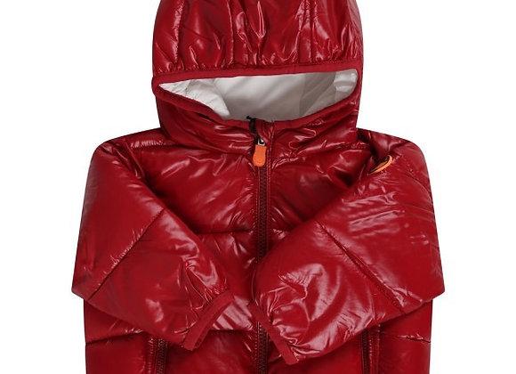 Piumino SAVE THE DUCK modello BABY rosso lucido