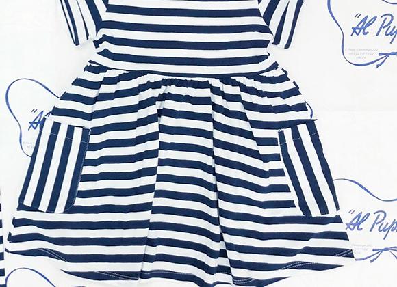 Vestito COCCODÈ a strisce blu e bianche