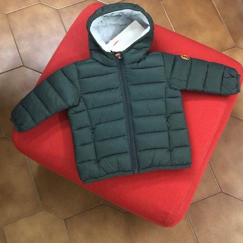 Piumino SAVE THE DUCK modello BABY verde militare