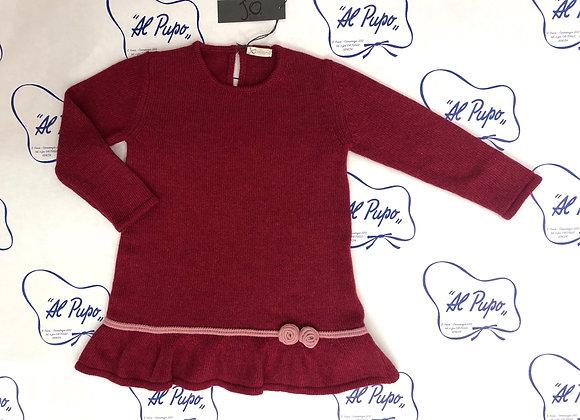 Vestito in lana e cachemire JoMilano rosso porpora