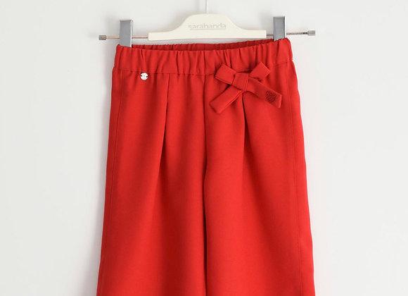 Pantalone largo rosso SARABANDA
