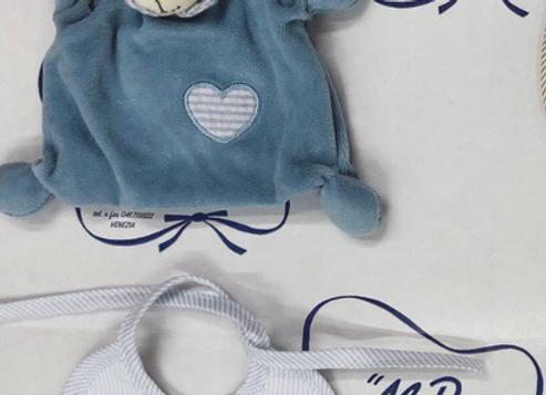 Idea regalo DOUDOU+BAVAGLINO azzurro