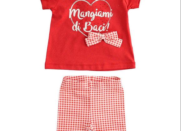 Completo t-shirt e leggings rosso SARABANDA