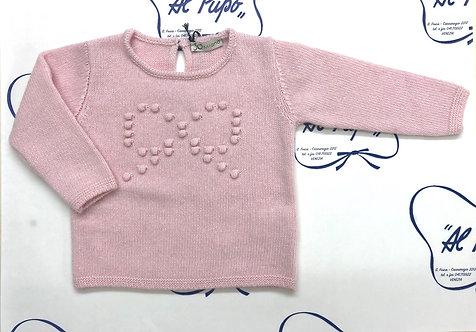Maglione lana e cachemire JoMilano rosa