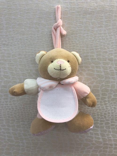 Orso CARILLON a fisarmonica rosa