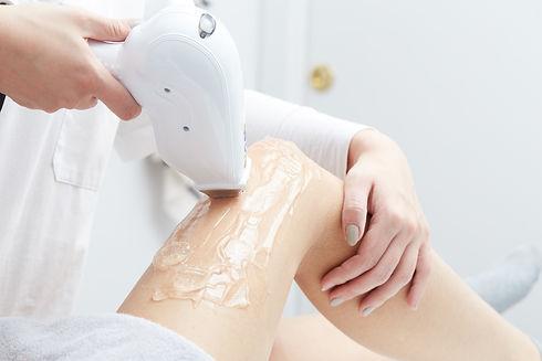 Beautician Giving Epilation Laser Treatm