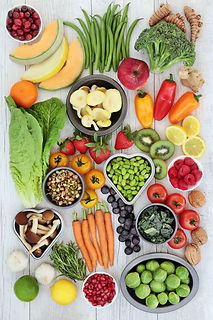 Superfood nutrition concept for healthy
