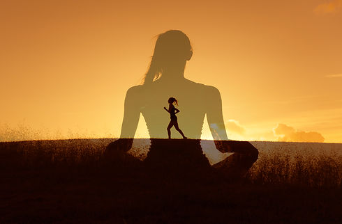 Healthy mind body and spirit. Wellness a
