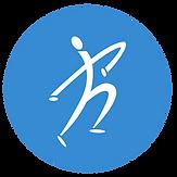 the road company logo man