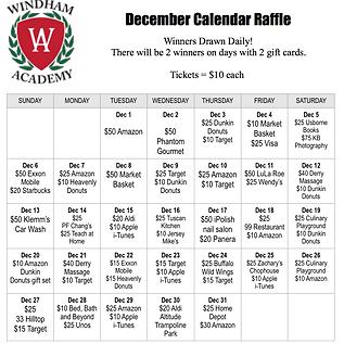 Gift Card Prize Calendar