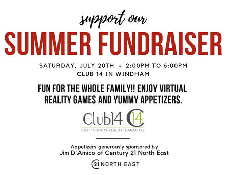 Join at Us at Our Summer Fundraiser