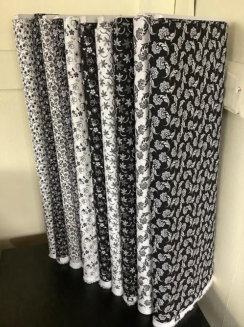 Floral black/ white positive/ negative