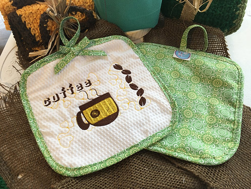 Coffee cozy potholder
