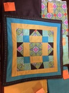Irish quilt square pillow