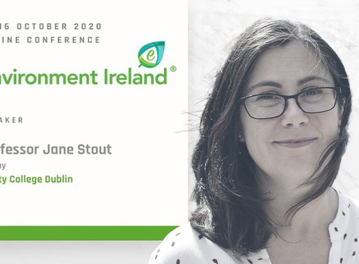EVENT: Prof Jane Stout to speak at Natural Capital Session at Environment Ireland Conference 2020