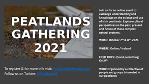 EVENT: Peatlands Gathering is coming in October 2021 - register now for a free online place